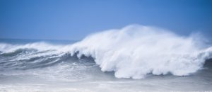 sea waves during a weak storm